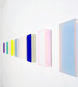 Regine Schumann, color satin and glow after madrid, 2018, Polymethyl<br />
