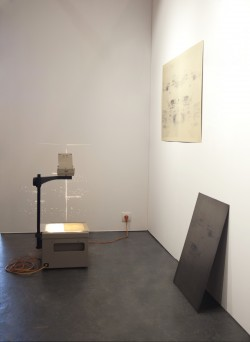 From the Gutter, Installation; intervened paper, projection,<br />